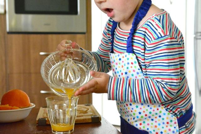 Otis pouring juice #1