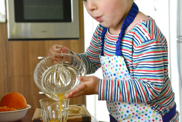Otis pouring juice #2