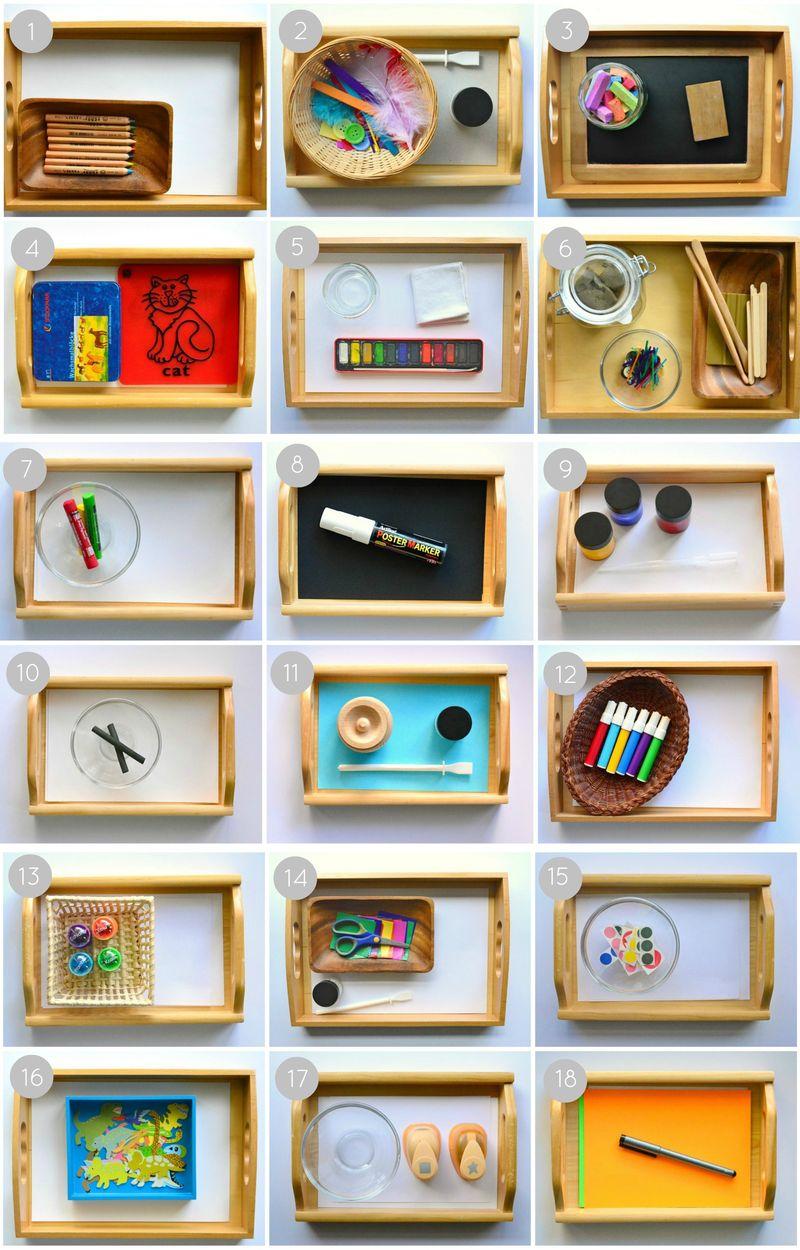 Montessori Art Activities for 2 Years