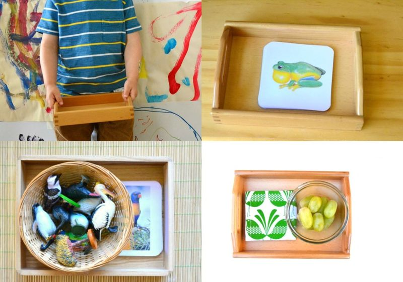 How we Montessori Shop - wooden trays
