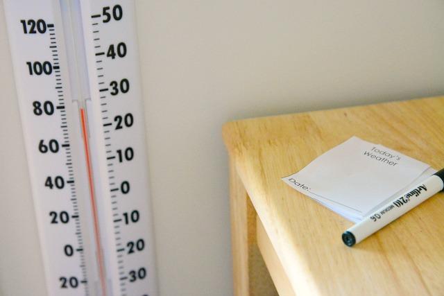 Caspar recording the temperature