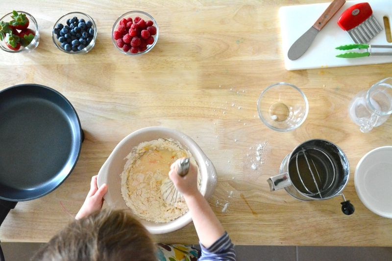 How we Montessori Mini Berry Pancakes