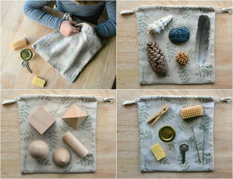 Using the Montessori Stereognostic Mystery Bag