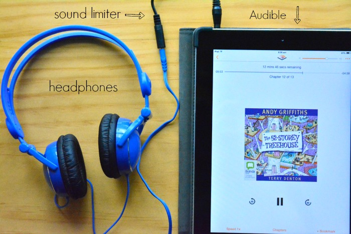 Audio books for kids - headphones, sound limiter and Audible