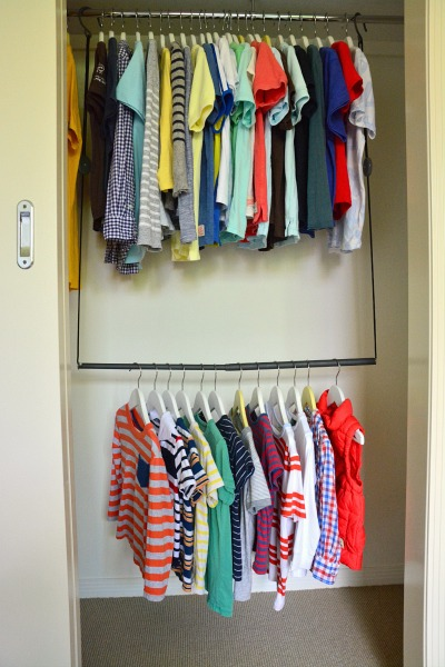 Caspar and Otis's Hanging Clothes at How we Montessori