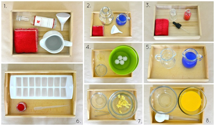 Water and transferring Activities at Three Years - How we Montessori