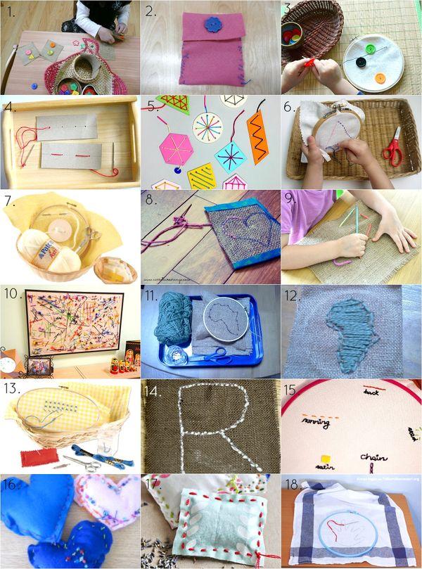 Montessori Sewing Ideas How We Montessori