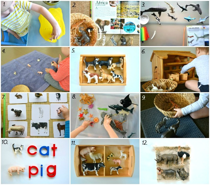 12 Montessori activities (for the home) using Schleich animals at How we Montessori