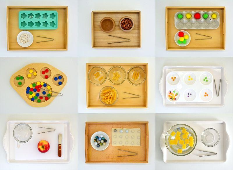Montessori Activities with mini tongs or tweezers at How we Montessori