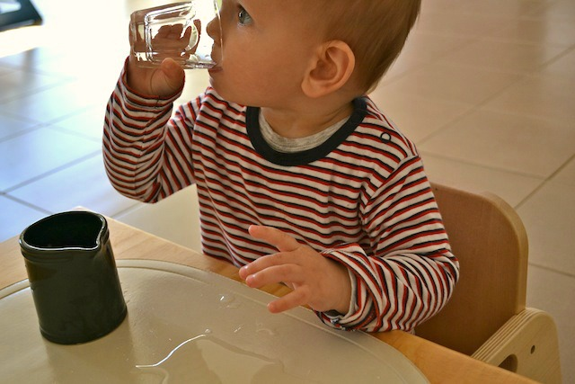 Drink from a glass