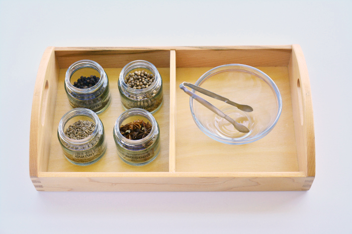Herb and Seed tray at How we Montessori