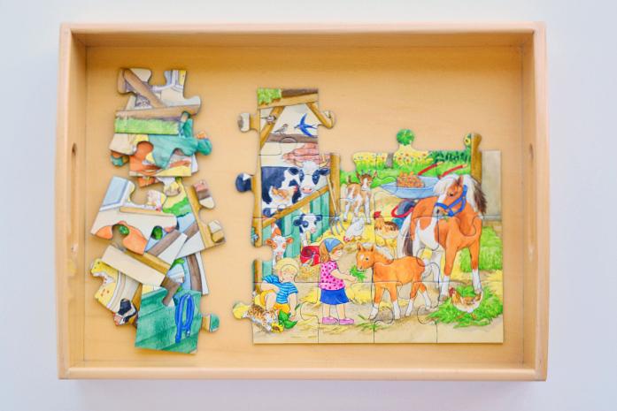 Ravenburger Puzzle in Tray at HWM