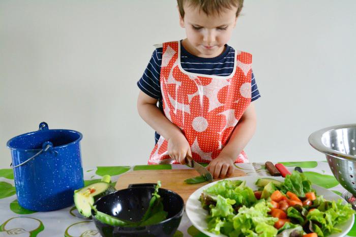 Otis making salad 2015