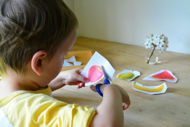 Improved cutting skills at three years at How we Montessori