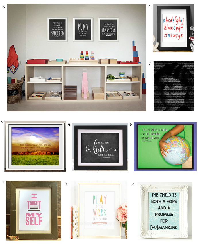 Montessori Inspiration - Prints and Quotes at How we Montessori