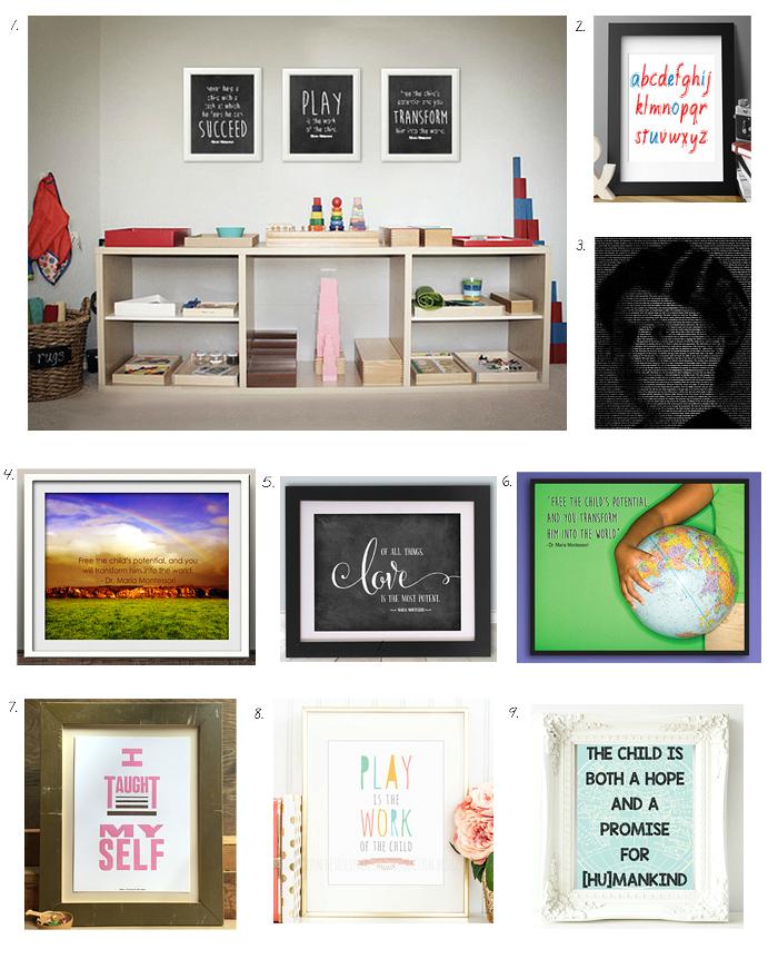 Montessori Inspiration - Prints and Quotes at How we Montessori
