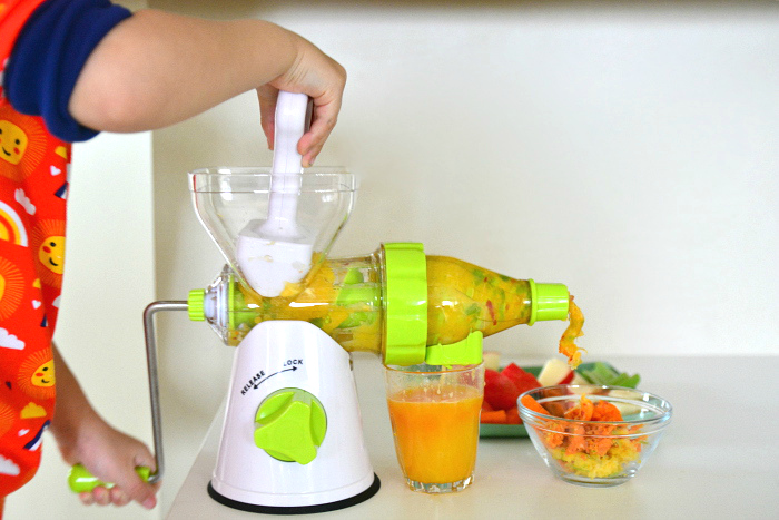 Otis At How We Montessori Hand Crank Juicer Cold Press