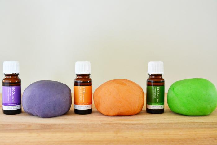 Essential oils in playdough copy
