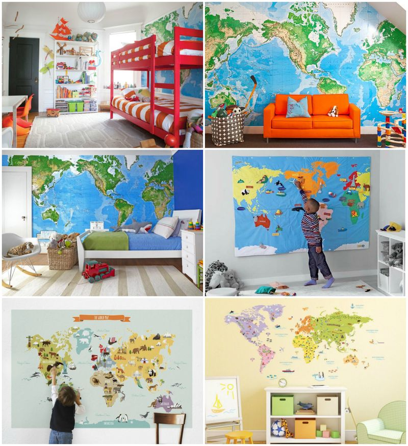 Wall map inspiration at How we Montessori