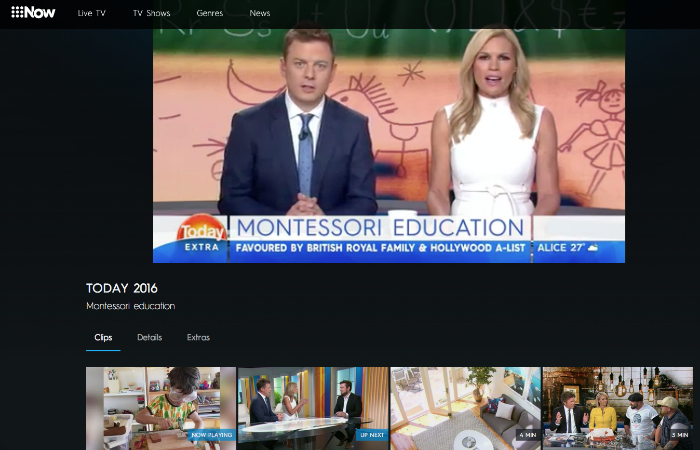 Kylie talking Montessori on Today Extra