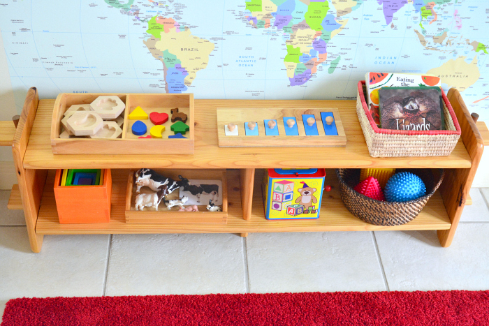 montessori toddler shelves at how we montessori