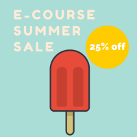 E-Course Summer Sale 25% off The Montessori Notebook