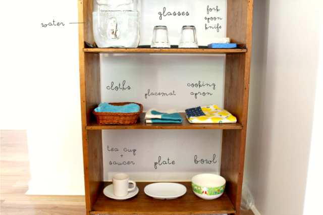 Beau's kitchen shelf