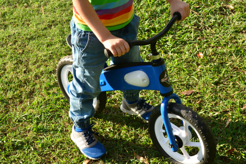 Otis with his balance bike