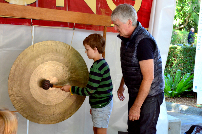 Caspar learning to play Gong, Gong Garden Out of the Box