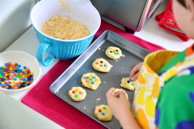 Otis making cookies at HWM