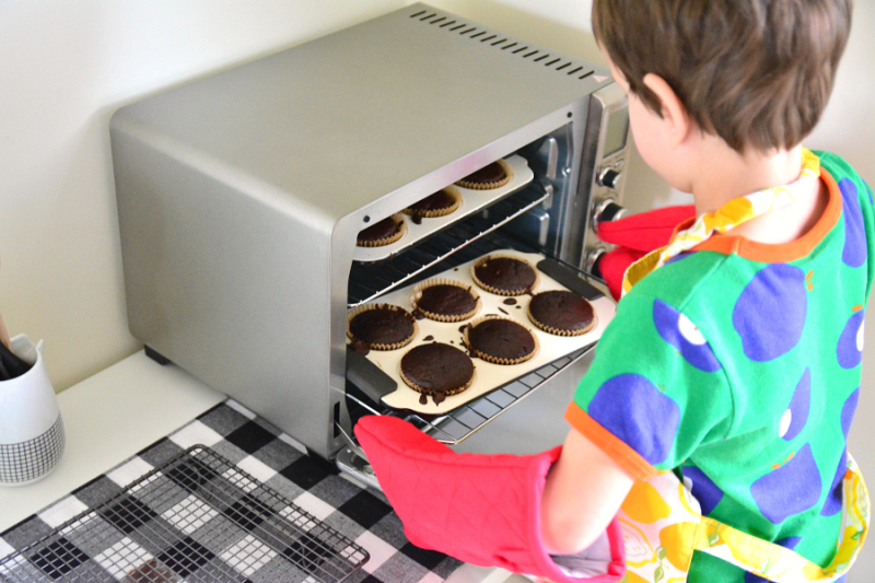 Independent baking Montessori style - with a toaster oven