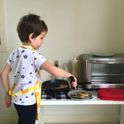 Otis cooking breakfast on Instagram