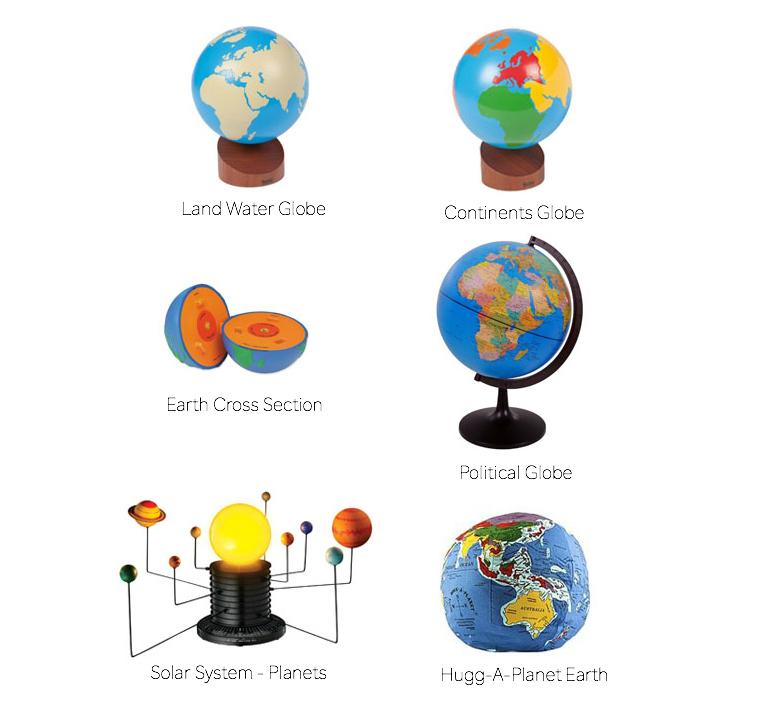Montessori and Montessori Home Globes at How we Montessori