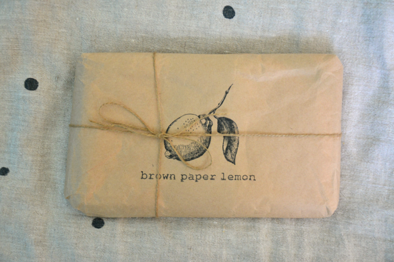 Brown paper lemon - pretty package