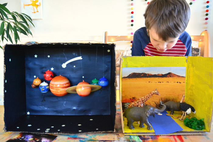Diorama making at How we Montessori