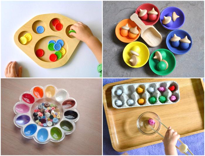 montessori sorting trays and ideas how we montessori