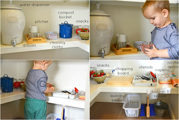How we Montessori - Montessori Kitchen Areas from 18 months