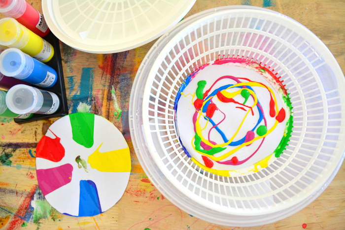 Salad spinner art at How we Montessori
