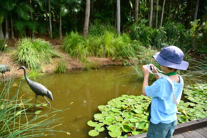 Otis taking pictures with his Nikon
