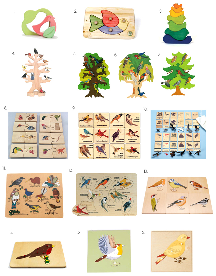 Bird Puzzles at How we Montessori