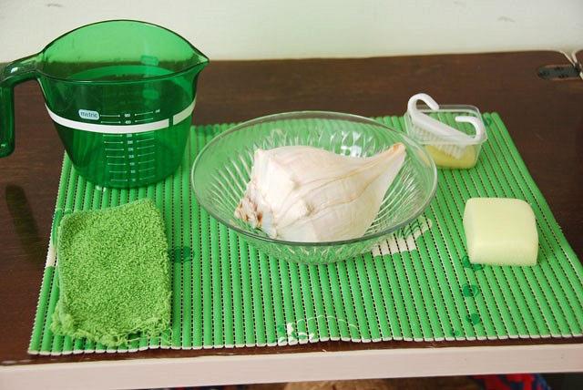 Shell Washing Des exercices Montessori pour