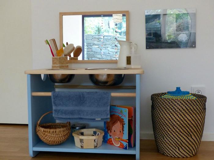 Montessori Home Care of Self Area