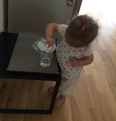 Montessori Home Toddler Pouring independently