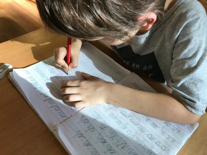 Otis' cursive phonograms at five years