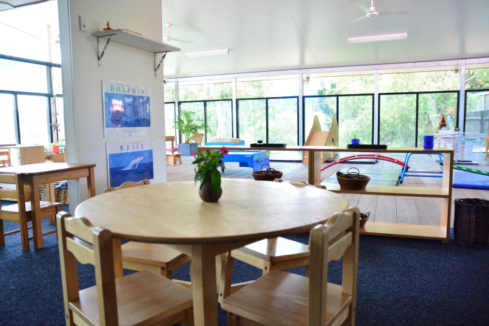 IMCH 18 month to Three year classroom, seamless inside to outside at How we Montessori
