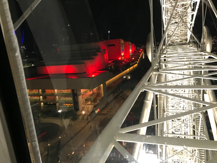 Wheel of Brisbane - looking over QPAC