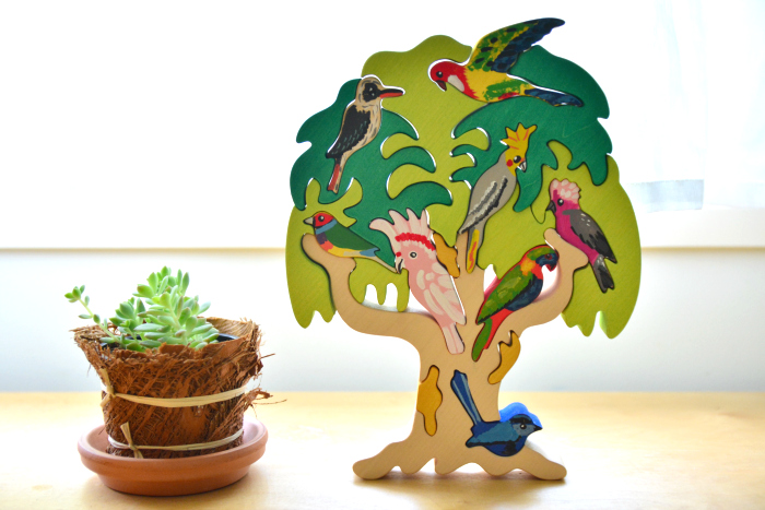 Australian Native Bird Puzzle at How we Montessori