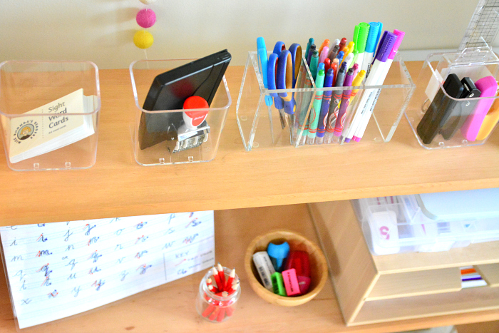Montessori Writing Centre - top view at How we Montessori