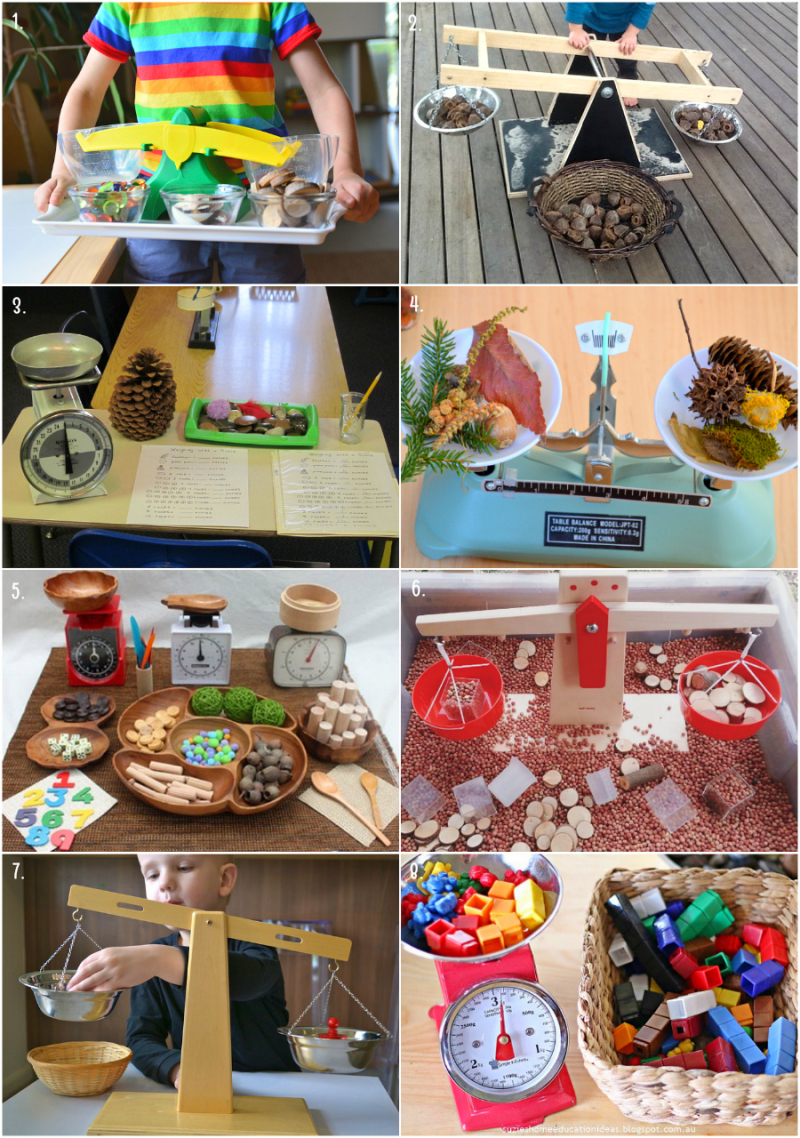 Montessori and Other Ideas - Using Scales and Balance Buckets