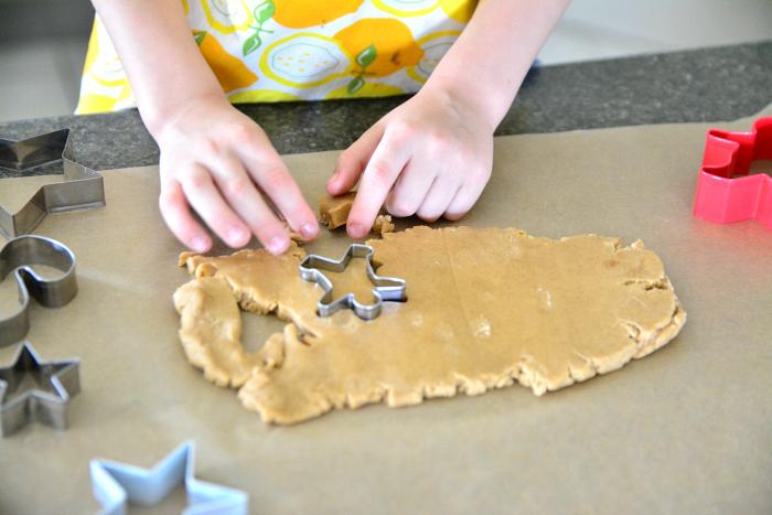 Otis making gingerbread man at HWM *